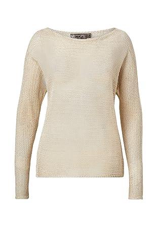 HALLHUBER Pullover mit Rollkanten leicht tailliert: Amazon