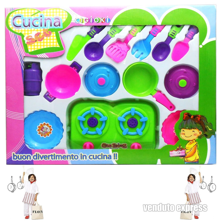 KIT PARA NIÑOS DE COCINA Artículos para cocinar FORNELLI CUBIERTOS SARTENES FUENTES para HORNO JUEGO 141 519: Amazon.es: Electrónica