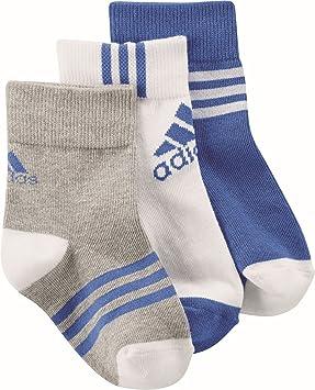 Adidas LK Ankle 3Pp Calcetines Cortos, Niño, Gris (Brgrin/Blanco / Azul), 27-30: Amazon.es: Deportes y aire libre