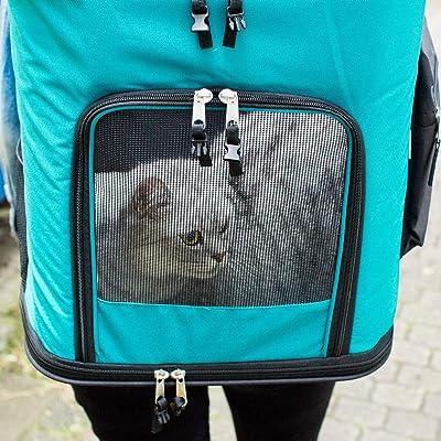 Head Out Design Adjustable Cat Dog Travel Front Shoulder Bag Easy-Fit for Traveling Hiking Camping RC GearPro Portable Pet Carrier Backpack S, Blue