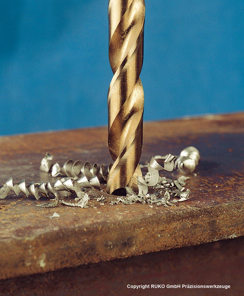 Terrax A215195 130 piezas, acero r/ápido, laminadas por rodillo Juego de brocas helicoidales