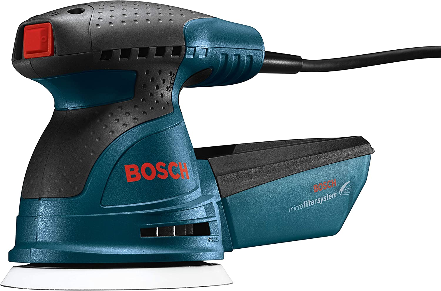 Bosch Palm Sander with Dust Collector and Soft Carrying Bag