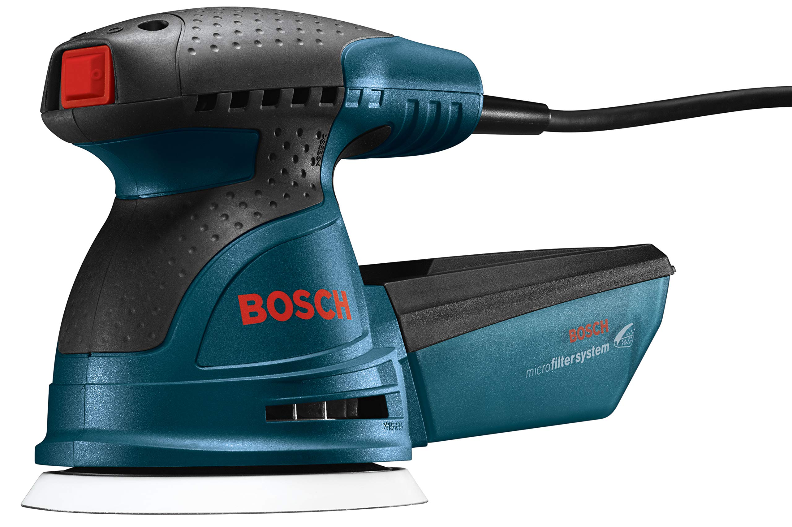 Bosch ROS20VSC Palm Sander - 2.5 Amp 5 in. Corded Variable Speed Random Orbital Sander/Polisher Kit with Dust Collector and Soft Carrying Bag by Bosch
