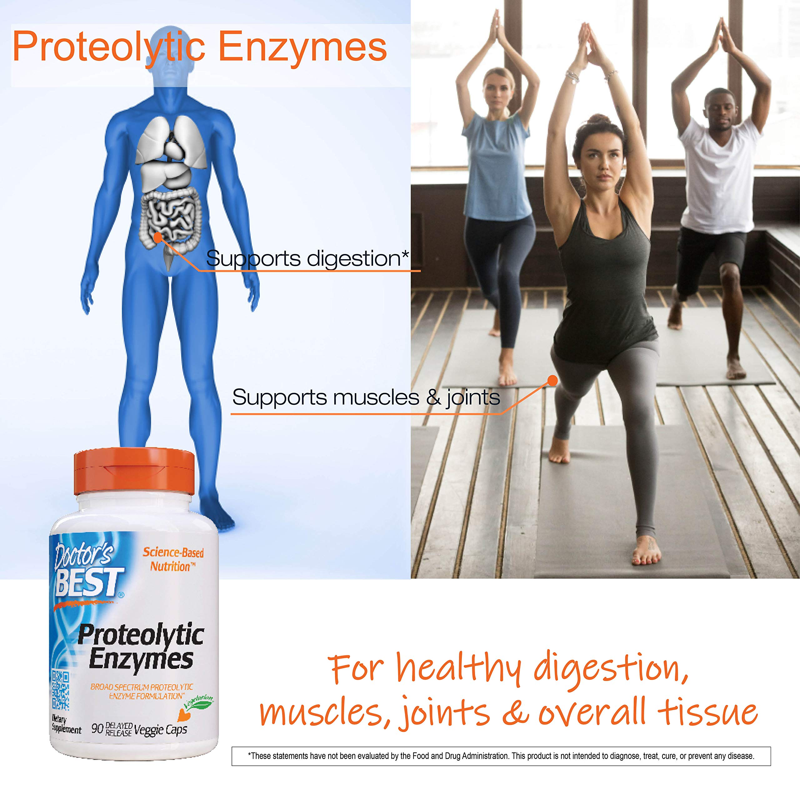 Doctor's Best Proteolytic enzymes, Digestion, Muscle, Joint