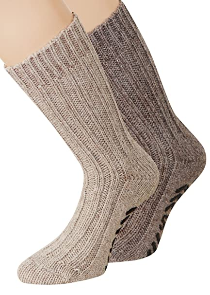 kb-Socken - Calcetines de estar por casa - para mujer marrón 2 Paar beige