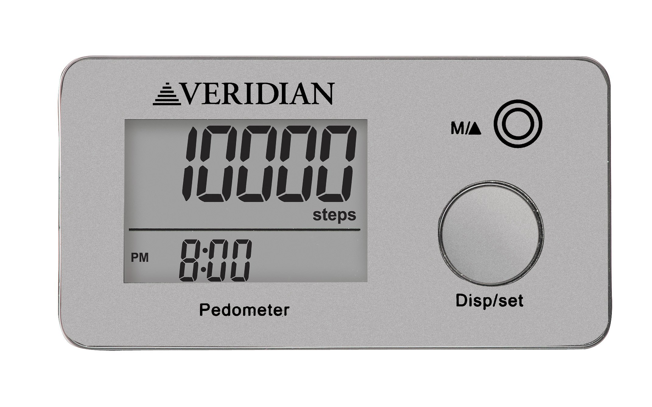 Veridian Healthcare 19-005SL Multi-Function Pocket Pedometer
