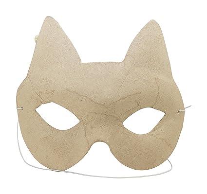 Decopatch Papel maché para niños máscara de Gato, 4,5 x 13 x 11