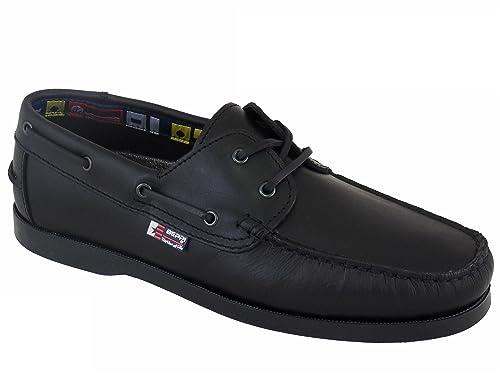 Beppi Portugués en piel Naúticos / Mocasines para hombre Color: Azul: Amazon.es: Zapatos y complementos