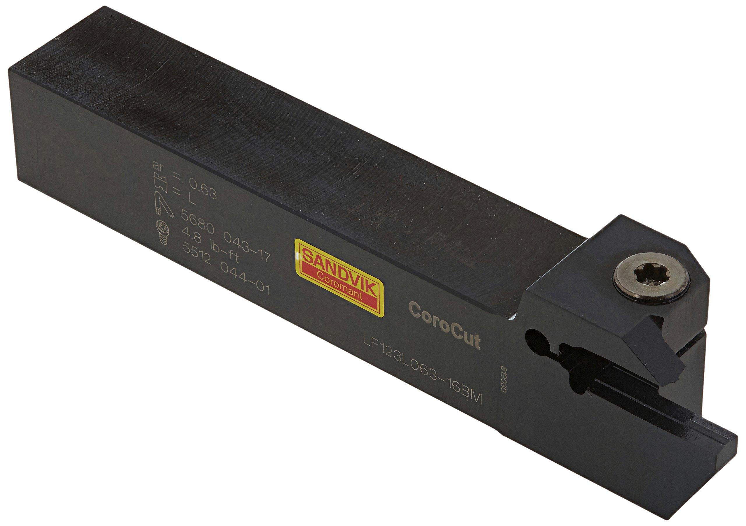 Sandvik Coromant LF123L063-16BM Steel CoroCut 1-2 Shank Tool for Parting and Grooving Holder, 0.98'' Maximum Depth of Cut