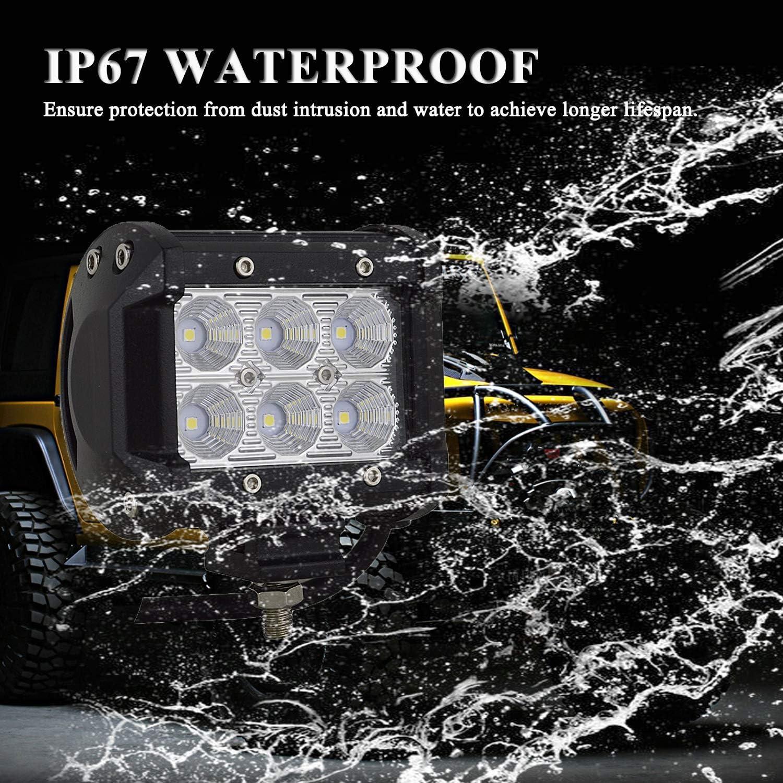 Willpower LED Scheinwerfer Offroad 2pc 9inch 54W LED Arbeitsscheinwerfer 12V Spotlight Wasserdicht IP67 Zusatzscheinwerfer 6000K f/ür Traktor Truck Auto SUV UTV ATV Reflektor R/ückfahrscheinwerfer
