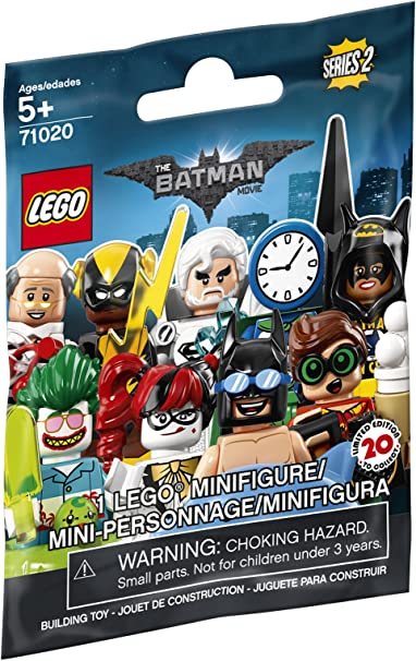 Lego minifigure figure magazine batman knight dc comics yellow version