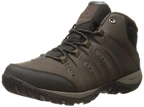 Columbia Woodburn II Chukka WP Omni-Heat, Zapatillas de Senderismo para Hombre, Negro (Black, Goldenrod 010), 46 EU