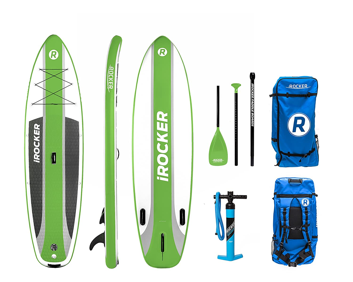 Paquete SUP de tabla de surf de remo hinchable iROCKER CRUISER, 106 largo, 33