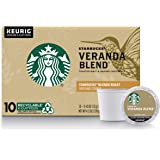 Starbucks Blonde Roast K-Cup Coffee Pods — Veranda Blend for Keurig Brewers — 10 Count (Pack of 1)