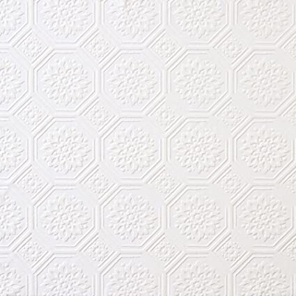 Brewster 148 32815 Paintable Solutions III Stagno Tin Ceiling Paintable  Wallpaper