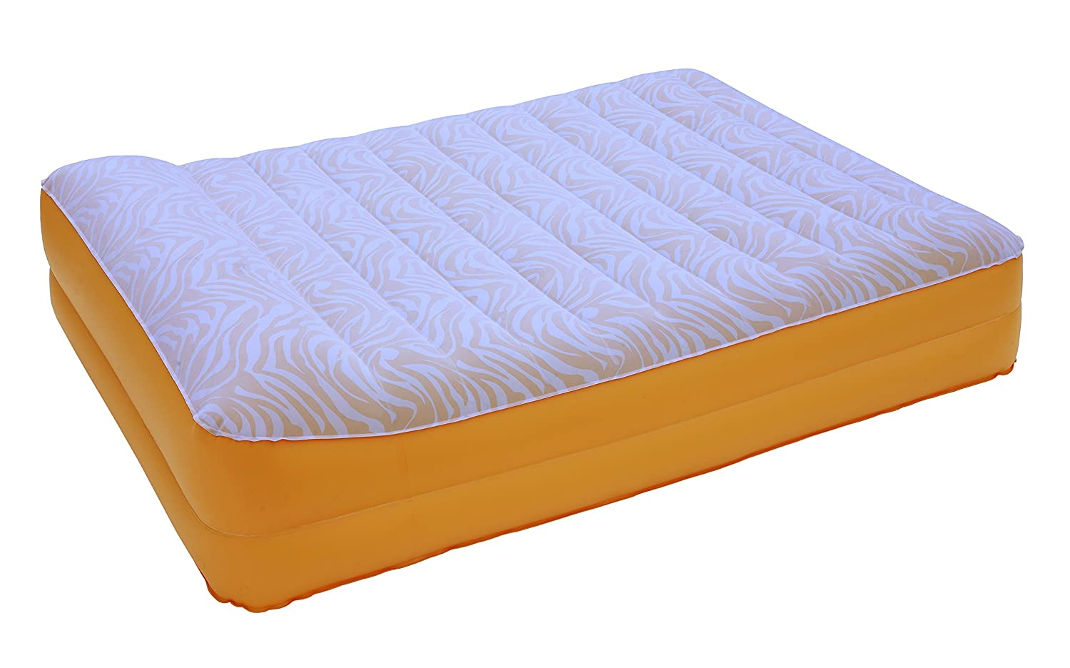 AirCloud Safari 14-Inch High Butterscotch Vanilla Safari Print Inflatable Air Bed, Full CSA US Corp PAB-501