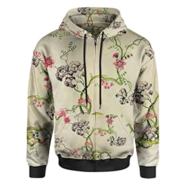 57932a50ce29 Vintage Florals Women Zip Up Hoodie at Amazon Women's Clothing store: