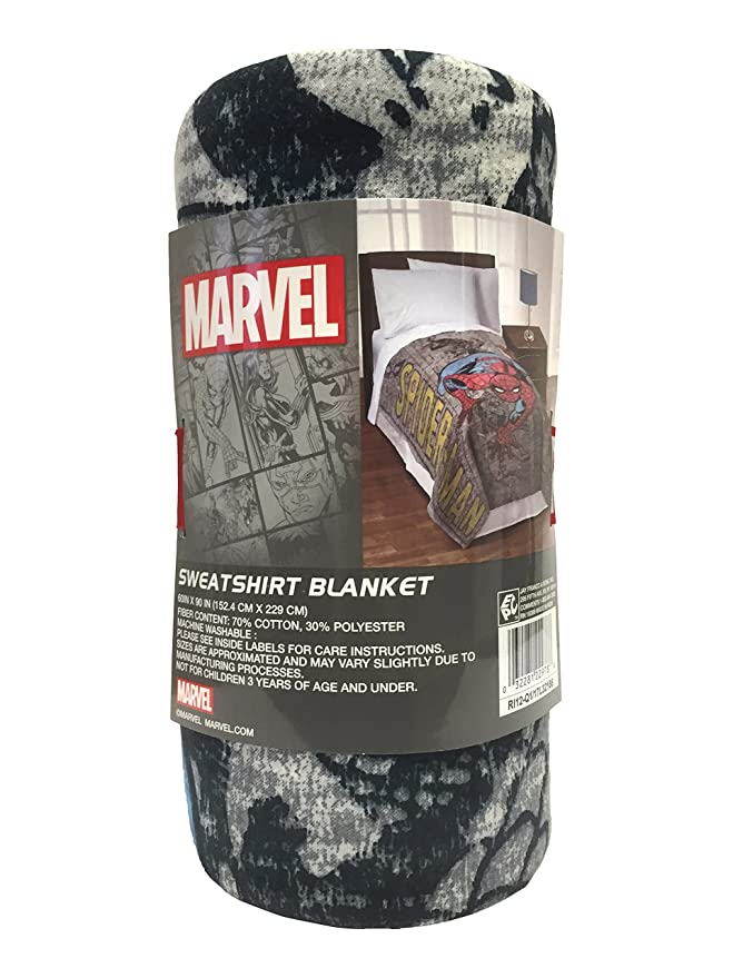 Marvel Spiderman Microfibra cabecero de Cama Cubierta, Gray/Black/Blue/Red, 152,4 x 228,6 cm: Amazon.es: Hogar
