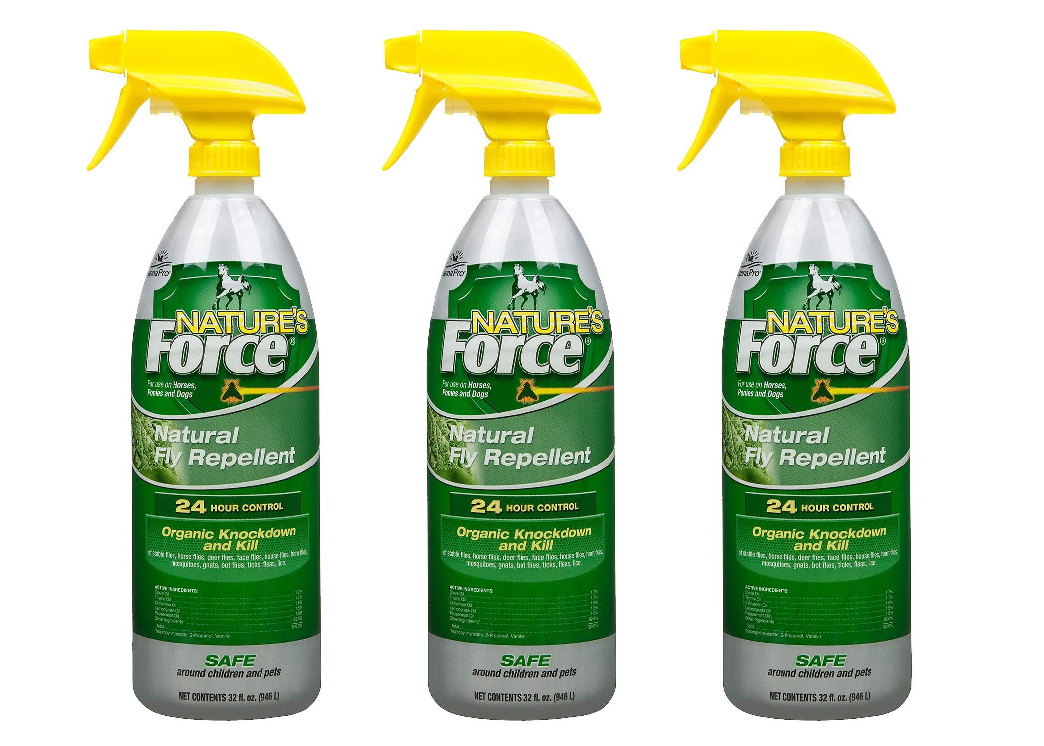 Manna Pro Natures-Force Fly Spray, 32 Ounces (Pack of 3) by Manna Pro
