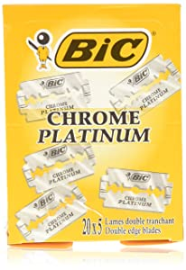 BIC Chrome Platinum Double Edge (DE) Razorblade - 100 Blades