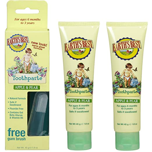 Jason Earth's Best Toothpaste, Apple & Pear