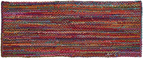 HF by LT Cotton Carnivale Braided Rug, 27 x 72 inches, Multi-Colored