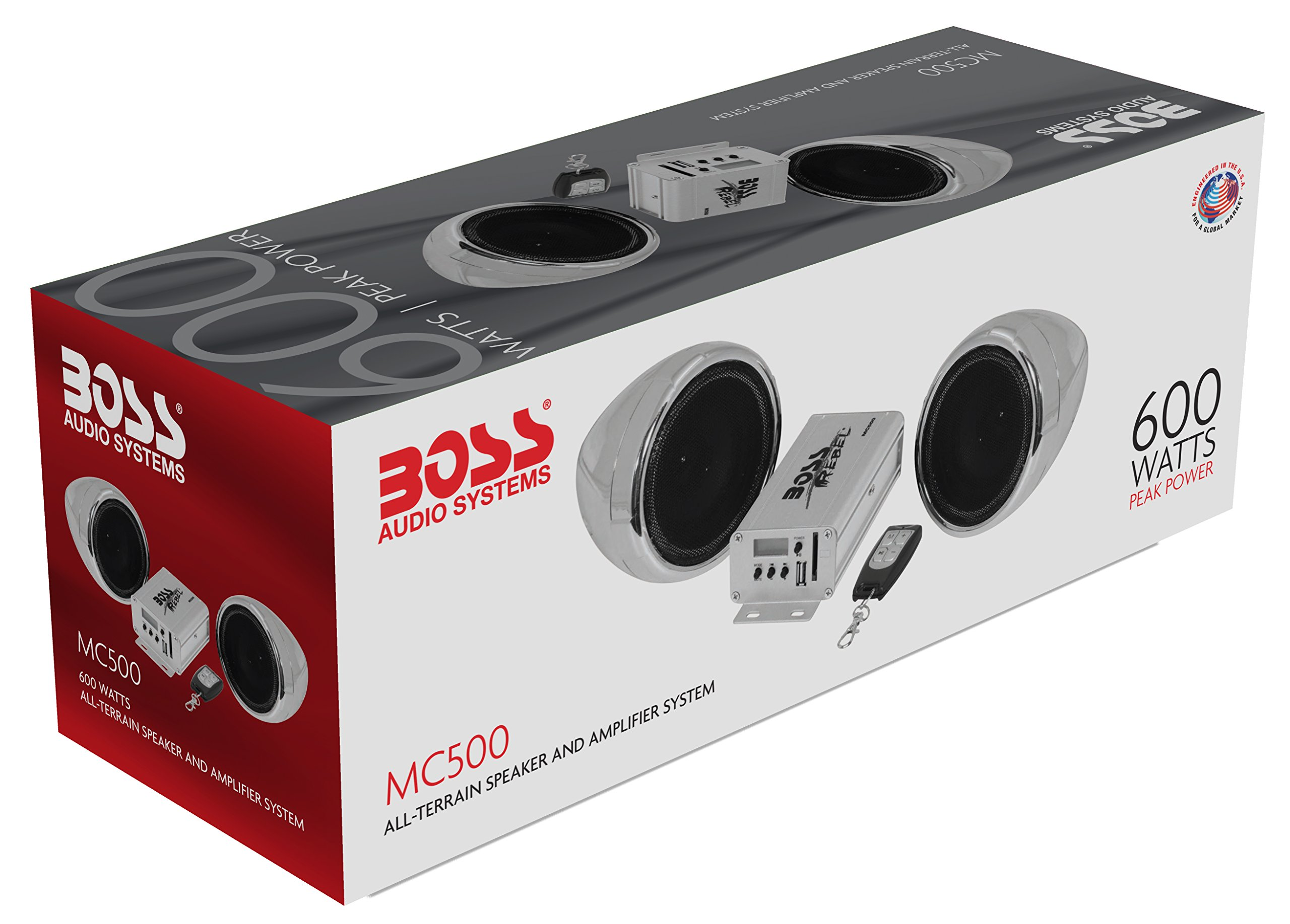BOSS Audio MC500 All-Terrain, Weatherproof Speaker And Amplifier Sound System, Two 3 Inch Speakers, Compact Amplifier, Multi-Function Remote Control, Ideal For Motorcycles/ATV and 12 Volt Applications by BOSS Audio (Image #7)