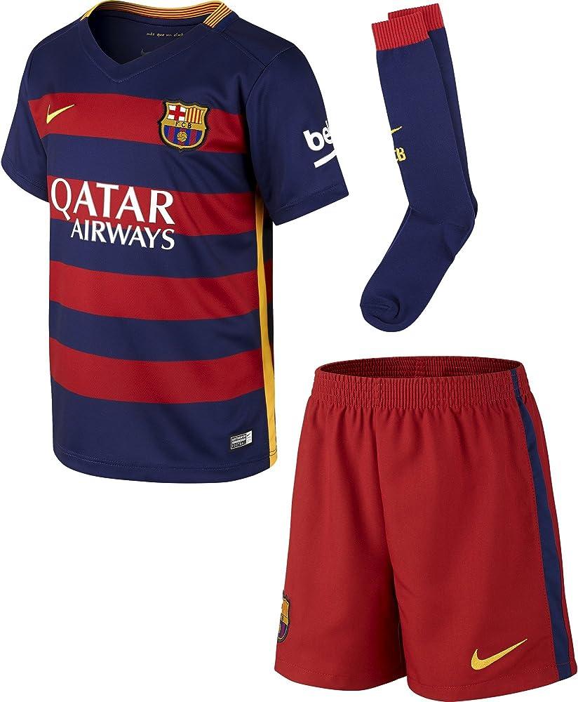Nike FCB Home LB Kit - Conjunto deportivo para niños para niño, color rojo / azul, talla L (6-7 años): Amazon.es: Zapatos y complementos