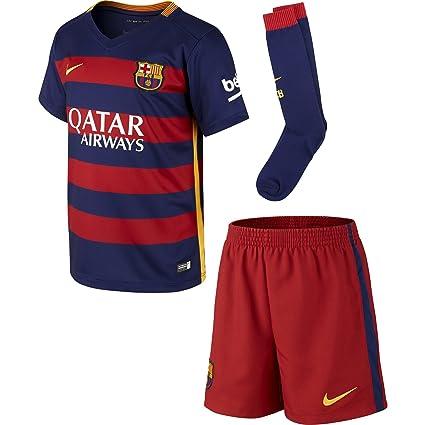 5bc042e4877 Amazon.com  Nike 2015 16 Little Boys FC Barcelona Home Kit (Loyal ...