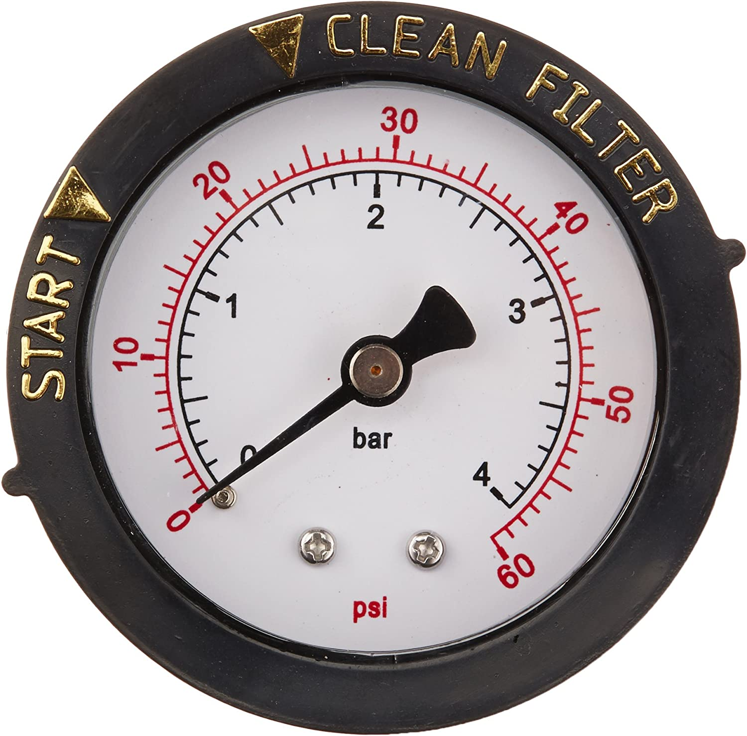 Pentair 190059 Rear Mount Pressure Gauge Replacement Pool/Spa Valve and Filter