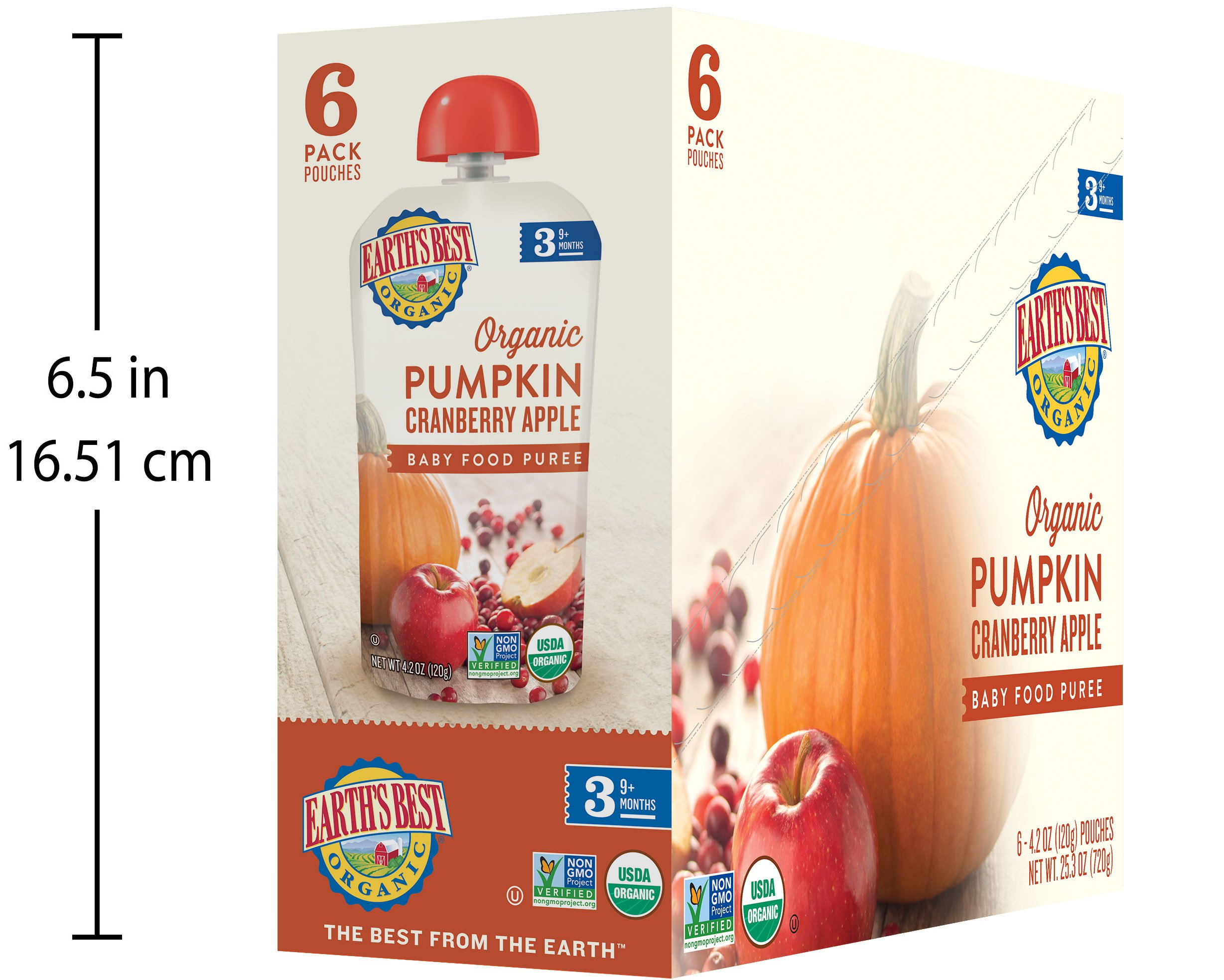 Earth's Best Organic Stage 3, Pumpkin, Cranberry & Apple, 4.2 Ounce Pouch (Pack of 12) (Packaging May Vary) by Earth's Best (Image #8)