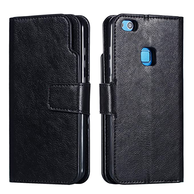 buy popular 17caf 54520 Amazon.com: Compatible Huawei P10 P10 Plus Case Leather Flip Wallet ...
