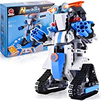 CIRO STEM Toys Projects for Kids Age 8-12, RC Robots Activities Building Blocks Robot Kits Educational Engineering Kit DIY Robotic Toy Interlocking Gear Sets Compatible with Lego Robot Science kit