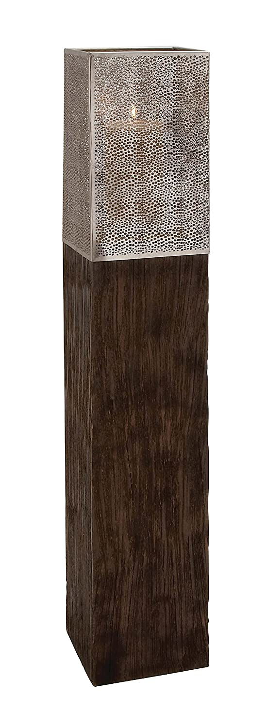 Deco 79 23869 Wood Metal Floor Hurricane, 8