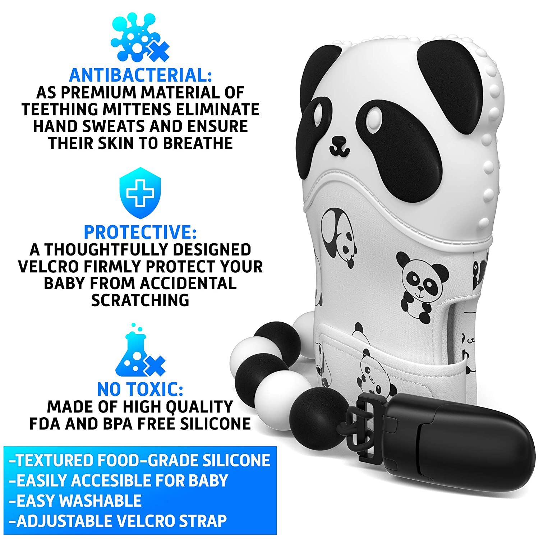 Amazon.com : NEW Teething Mitten for Babies - Teething Mitt for Boy ...