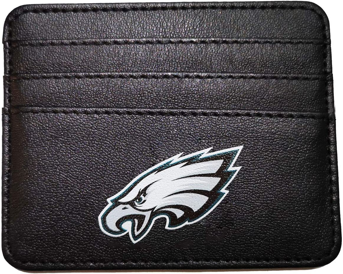 Any Any NFL Card Case Minimalist Wallet for Men and Women,/Thin Sleek Casual Front Pocket Wallet with 6 Credit Card Pockets