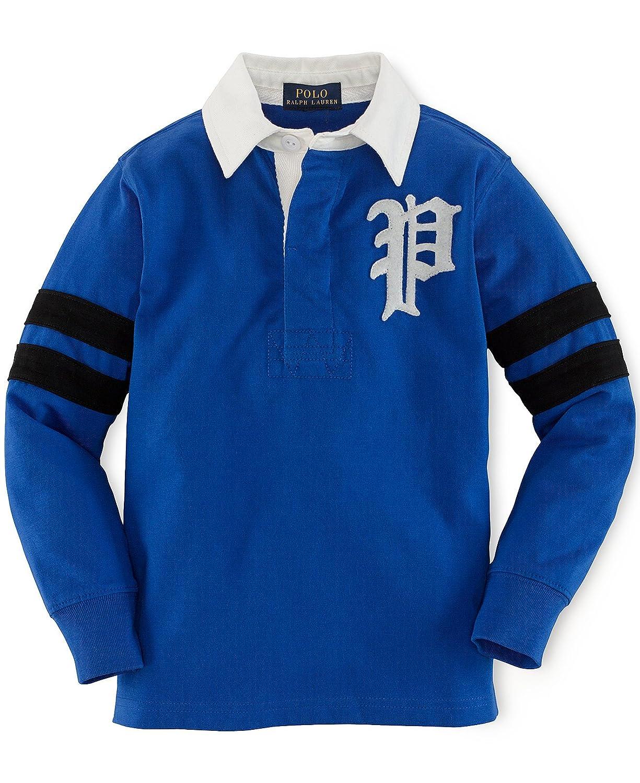 Ralph Lauren Polo Boys Contrast Collar Long Sleeve Rugby Shirt