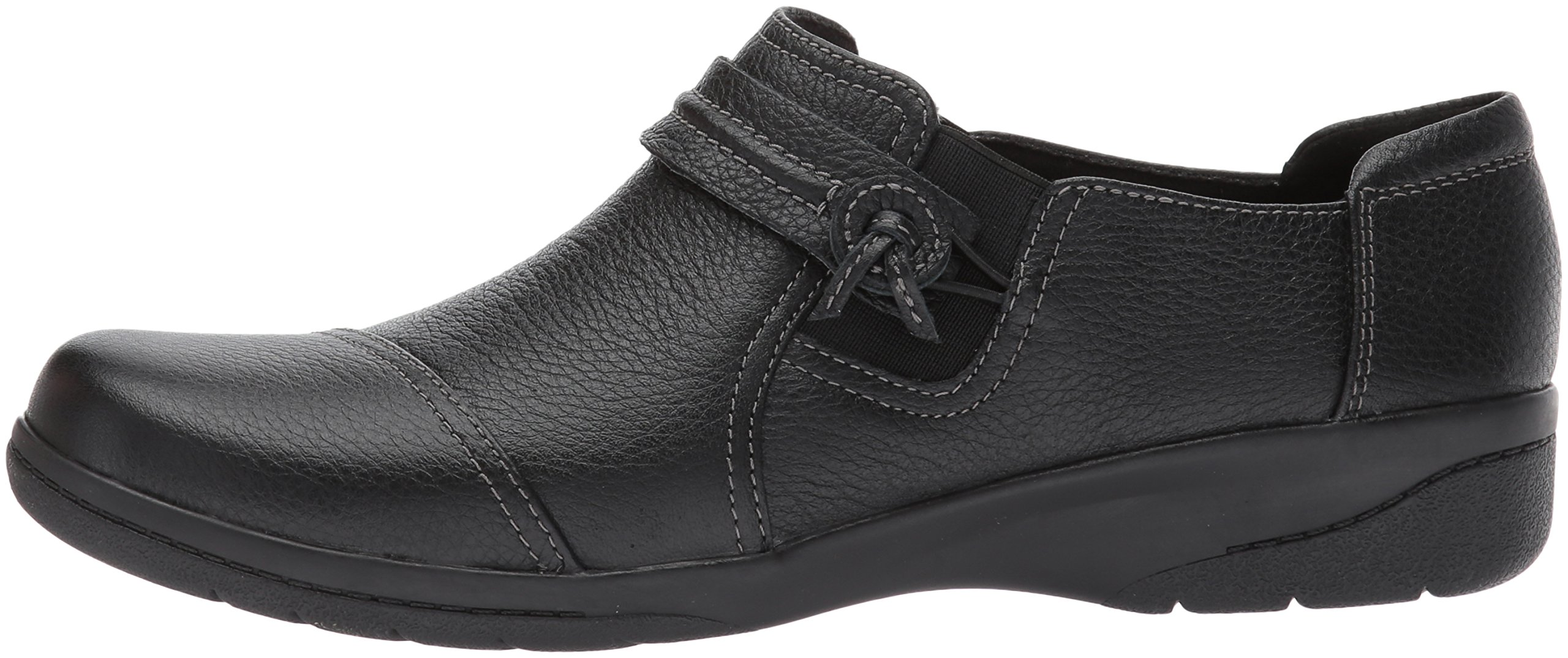 Clarks Women's Cheyn Madi Slip-On Loafer, Black Tumbled Leather, 9.5 W US by CLARKS (Image #5)