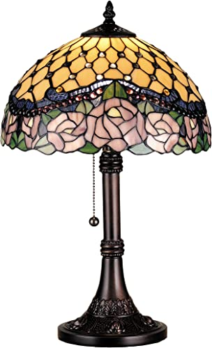 Meyda Home Indoor Decorative Lighting Accessories 19.5″H Jeweled Rose Table Lamp