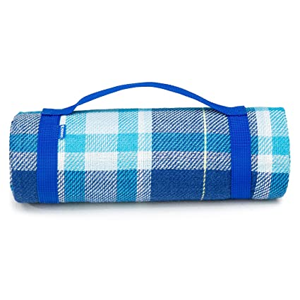 08d464db7259a4 YONOVO Outdoor Water-Resistant Acrylic Picnic Blanket for Camping Beach  Outdoor (Blue-A