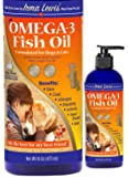 Ultra Premium Omega 3 Fish Oil for Dogs, Cats, Rabbits – Best For Full Glossy Coat, Relief for Ear Infections, Dry Itchy Skin, Shedding, Allergies. Essential Fatty Acids DHA & EPA, 16oz Pump