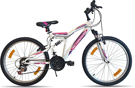 Bicicleta de montaña de 24 pulgadas con suspensión completa para ...