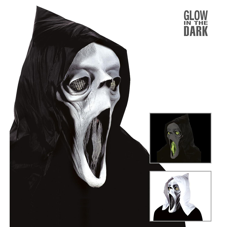 Máscara para disfraz de adulto Halloween fantasma: Amazon.es: Juguetes y juegos