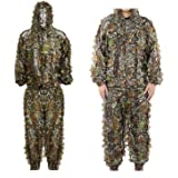 Ghillie Suit 3D Leaf Realtree Camo Camouflage Lightweight Clothing Suits for Jungle Hunting ,Shooting, Airsoft, Wildlife Photography or Halloween