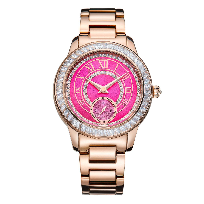 Matisse Oxford Fashion Österreich Kristall Zifferblatt Stahl Quarz Uhren Armbanduhr – Schwarz