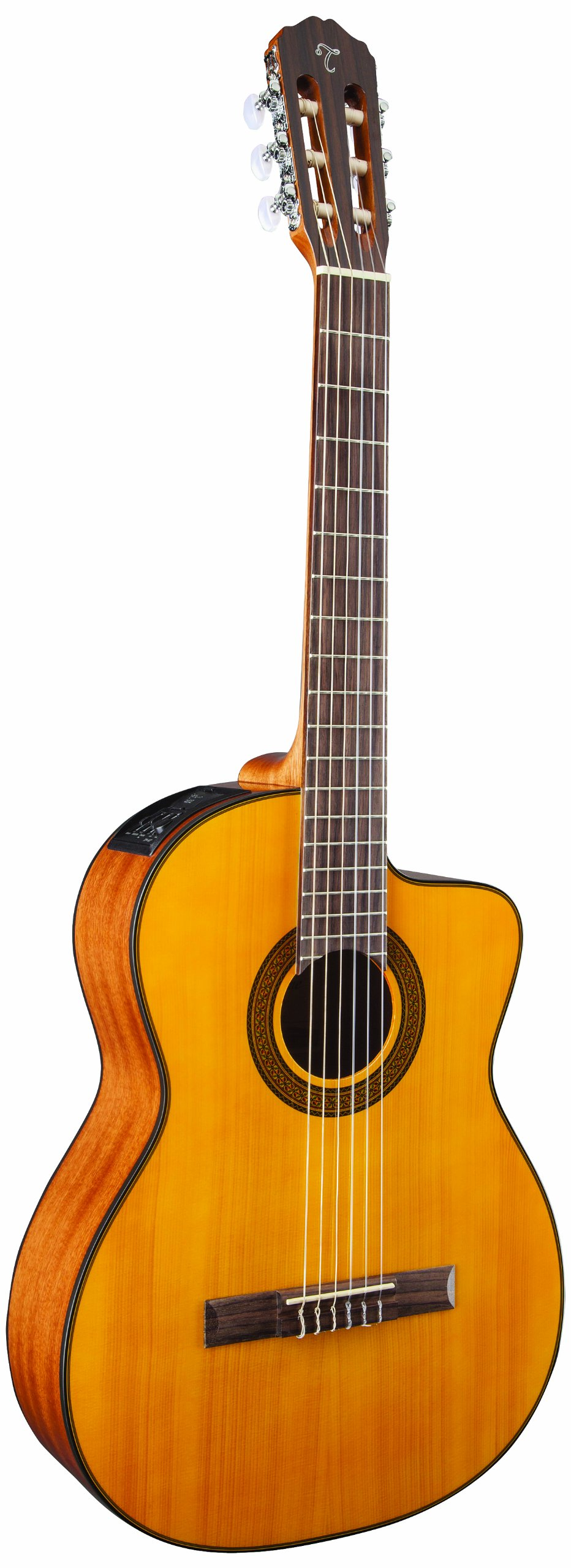 Takamine G Series GC3CE-NAT Acoustic-Electric Classical Cutaway Guitar, Natural by Takamine
