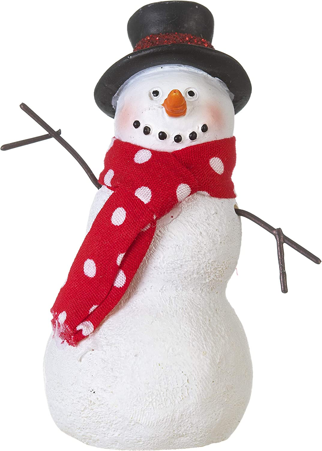 Darice Mini Snowman with Scarf: Christmas, 2 x 3 inches, Multicolor