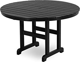 product image for POLYWOOD RT248BL Round Dining Table, 48-Inch, Black