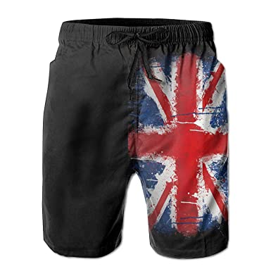 c7c168b235 Image Unavailable. Image not available for. Colour: British Flag Grunge  Men's Summer Beach Quick-Dry Surf Swim Trunks ...