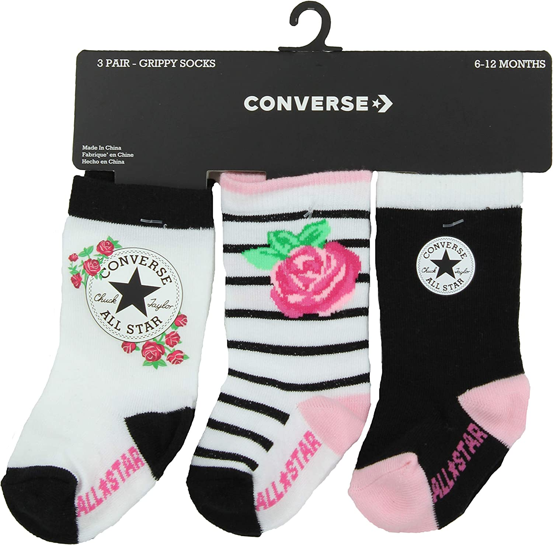 Converse Infant Toddler 3 Pack Socks